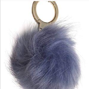 Kate Spade oyster blue keychain/key fob